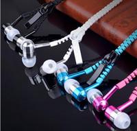 Наушники молния гарнитура 3.5 мм джек бас наушники-вкладыши Zip наушники для Iphone Samsung телефон PC MID MP3 MP4 плеер с пакетом 2016