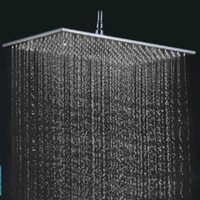 cheap rain shower head. Shower Heads 200 400 8mm Auto Thermostat Control Rainfall Head 400mm  Rectangle 304 Stainless Steel Bruhed 160313 UK Free Delivery on
