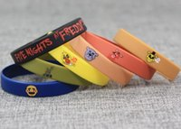 Hot Five Nights a Freddy's Colorfull Wristband in silicone per regalo per bambini Five Nights at Freddys 7pcs / set