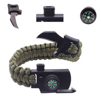 Outdoor Knife Survival Bracelets Camping Rescue Parachute Co...
