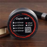 20 pcs Mais Novo Clapton Wire Resistência Fios 15 Pés 22 + 32 24 + 32 26 + 32 28 + 32 Awg Calibre Bobina De Carretel Da Bobina com Pacote Único para Rda Vape