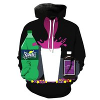 Vendita all ingrosso 3D cool drink timbro cappuccio tasca felpa uomo con  cappuccio maglione felpa d826b329a260