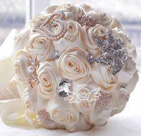 Personalizzato Qualsiasi colore Fiori da sposa sbalorditivo Bianco Bouquet da sposa damigella d'onore Artificiale Bouquet da sposa rosa Disponibile