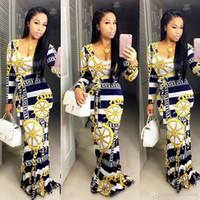 Sexy Maxi Casual Dress Long Sleeves Flower Colour Longuette Fashion Skirt Sashes Clothing Ladies Bodycon Work Denim Cheap Dresses