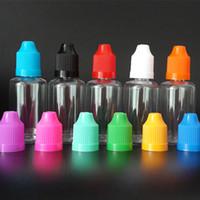 100шт 30мл E жидкости капельницы бутылки ПЭТ Clear Vape E сок бутылка Пустой пластиковые бутылки с длинным тонким Советом и восковыми Cap