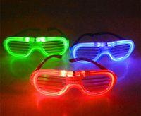 Fashion Shutters Light Shape Decoration Glasses Flash Flashing LED Party Sunglasses Dances Supplies Festival E16803 Mjolf