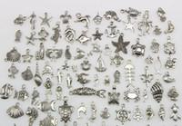 Смешать 100 стиль ожерелье кулон очарование DIY серебро Тибетский ювелирные изделия выводы браслет ожерелье аксессуар ювелирных изделий компоненты