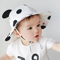 summer baby sun hats boys girls white and black hats baby ba...