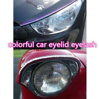 자동차 헤드 라이트 자동차 속눈썹에 대한 자동차 속눈썹 크리스탈 눈 라인 눈꺼풀 속눈썹 자동 램프 스티커 장식 atp224