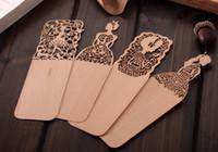 Groothandel veel mooie vintage dunne houten bladwijzer creatieve huidige souvenirs kawaii chinese stijl bladwijzer voor boek schattig meisje cadeau