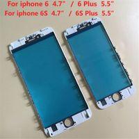 Marco de cristal al por mayor del frente de la lente de cristal con Medio Bisel soporte para Iphone 6 6s 7 7 8 8 más el Plus