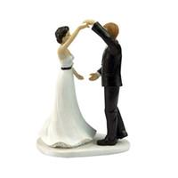 Topper de gâteau de mariage avec couple de fiancés Figurine danser avec vous décoration de gâteau pour la fête d'anniversaire de mariage