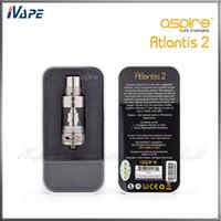 Autêntico Aspire Atlantis 2 Tanque 3.0 ml Atomizador de Fluxo de Ar Ajustável Aspire Atlantis V2 Sub Ohm Bobina Clearomizer Com Sistema de Arrefecimento Ótimo