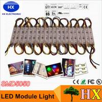 DHL transporte livre módulo RGB lâmpada de luz SMD5050 IP65 módulos LED impermeável LED sinal de volta lighttters SMD 3 levou 0.72W DC12V