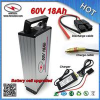 Frete Grátis 60V 18Ah Bilhete Elétrica Bateria Recarregável Bateria de Lítio com Caso de Alumínio BMS Carregador Atacado e Varejo