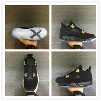 Wholesale NEW 4 IV Black Suede gold 4S Banned 1 Glow in the ...