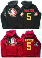 5 Jameis Winston Florida State Seminoles Hockey Hoodies Blac...
