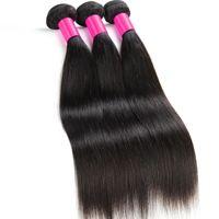 Queen Hair Malaysian Virgin Hair Straight 4Bundles Deal Sin procesar Malaysian Straight Hair Weave 8A Malaysian Human Human Bundles