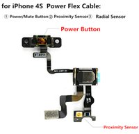 Botón de encendido del sensor de luz de proximidad de repuesto con cinta del cable flexible del auricular para iPhone 4 4G 4S 4GS CDMA