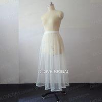 Hot Bridal Dress Dress Dress Petticoat con buchi bracciali Vita elastica One Layer Molle Tulle Inderskirt Salvarti dal water Acqua Raccogliere immagine reale