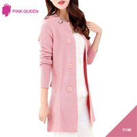 Wholesale- Pink Queen Europe Street Style Cardigans Knitted ...