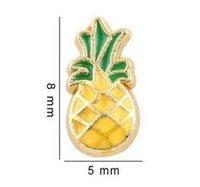 20PCS / lot Ananas Flottant Médaillon Charmes Fit Pour Verre Mémoire Magnétique Flottant Médaillon Pendentif Bijoux Making