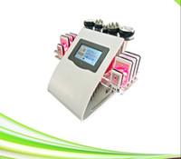Alta qualità portatile 40k liposuzione ad ultrasuoni cavitazione 8 pads lllt lipo macchina di dimagrimento laser vuoto RF cura della pelle salone attrezzature spa