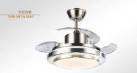 Lampadario ventilatore ventilatore invisibile luce ventilatore a soffitto camera da letto casa camera da letto minimalista moderno ventilatore a LED