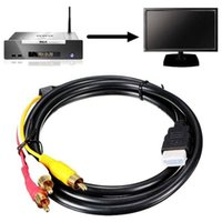 1. 5M 5FT 1080P HDMI to 3 RCA Cable HDMI to AV Male Adapter A...