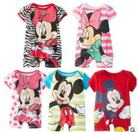 Mickey Minnie Cartoon Baby Romper Short Sleeve Cute Clothes ...