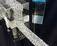 2 Metre Sıcak Düzeltme Sivri Kristaller Rhinestone Şerit Trim Dantel Dikiş Gelinlik