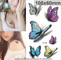 10.5x6 cm Nouveaux produits de sexe Conception Mode Temporaire Tatouage Autocollants Temporaire Corps Art Imperméable Tatouage Motif HJIA658