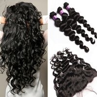 8a Malaysian Loose Deep Wave Virgin Human Hair With Lace Fro...
