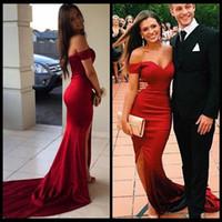 2017 Kırmızı Gelinlik Modelleri Siyah Kız Seksi Bölünmüş Yan Çiftler Moda 2k15 Kırmızı Halı Abiye Örgün Akşam Parti Giyim Özel