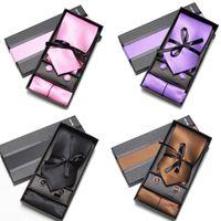 Corbata Corbatas Hanky Corbatas Corbatas para hombre establece gemelos corbata lazo conjunto pajarita corbata de los hombres