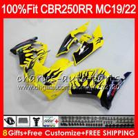 Inyección Para HONDA CBR 250RR llamas negras CBR250RR 94 95 96 97 98 99 96NO65 MC19 MC22 250 CBR250 RR 1994 1995 1996 1997 1998 1999 Carenado