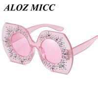 ALOZ MICC Women Diamond Sunglasses Polygon Irregular Crystal...