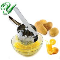 Trituradora de patata ricer exprimidor de limón de acero inoxidable exprimidor de cítricos trituradora de prensa de ajo fabricante de purés de alimentos para bebés vegetales gadgets de cocina de verduras
