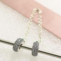 2016 осень стерлингового серебра 925 проложить вдохновение цепи безопасности Шарма шарик с Cz подходит Европейский Pandora ювелирные браслеты ожерелья