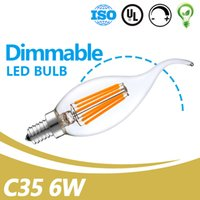 China Filament Bulbs Factory AC110- 130V 6W Clear Glass E12 B...