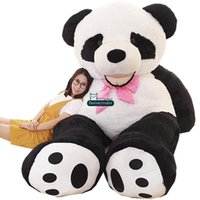 Dorimytrader stor snyggtecknad leende panda plysch leksak stor fylld anime pandas docka soffa tatami gåva dekoration 260cm 160cm 130cm