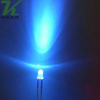 1000pcs 3mm 자주색 둥근 물 명확한 LED 빛 램프는지도 된 다이오드 3MM UV지도 된 램프를지도했다