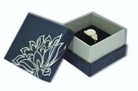 2017 heißer Großhandel 12 teile / los Display Schmuckschatulle Ring-boxen 5 * 5 * 3,5 cm Kleine Geschenkbox Verpackung Trinket Organizer Blau oder rot