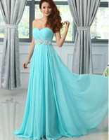2017 Hot Sale Long Light Sky Blue Evening Dresses Sweetheart...