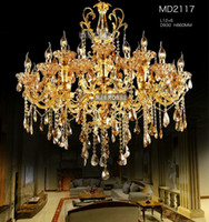 Large Gold Crystal Chandelier Lighting Big Luxurious Cristal...