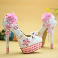 Handmade Pink Crystal High Heels Bling Bling Rhinestone and ...