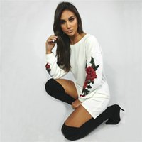 Autumn Winter Sweatshirts Floral Embroidery New Style Wester...