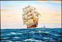 Framed TEA CLIPPER CUTTY SARK, , Free Shipping Hand- painted  H...