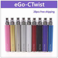ego-ctwist ecig batería de giro ajustable - 20 PC. voltaje de salida 3.2v-4.8v 8 configuraciones 650mAh 900mAh 1100mAh ego twist battery