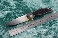 Cinghiale Shirogorov F95 serie russo pieghevole coltello con cuscinetto a sfera sistema di lavaggio D2 stonewash lama TC4 maniglia in lega di titanio